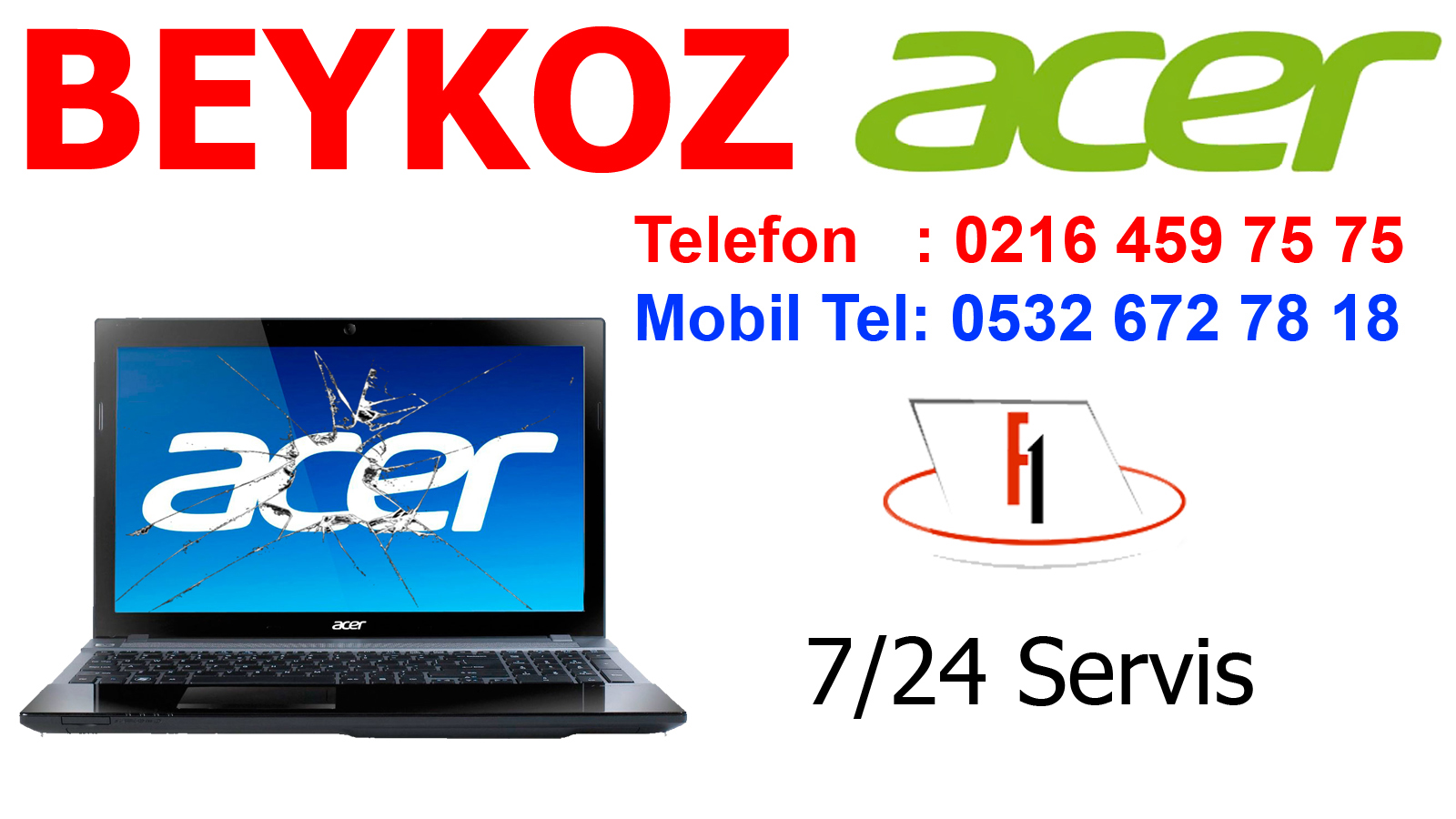 İstanbul Beykoz Acer Servisi (Tel: 0216 459 7575)