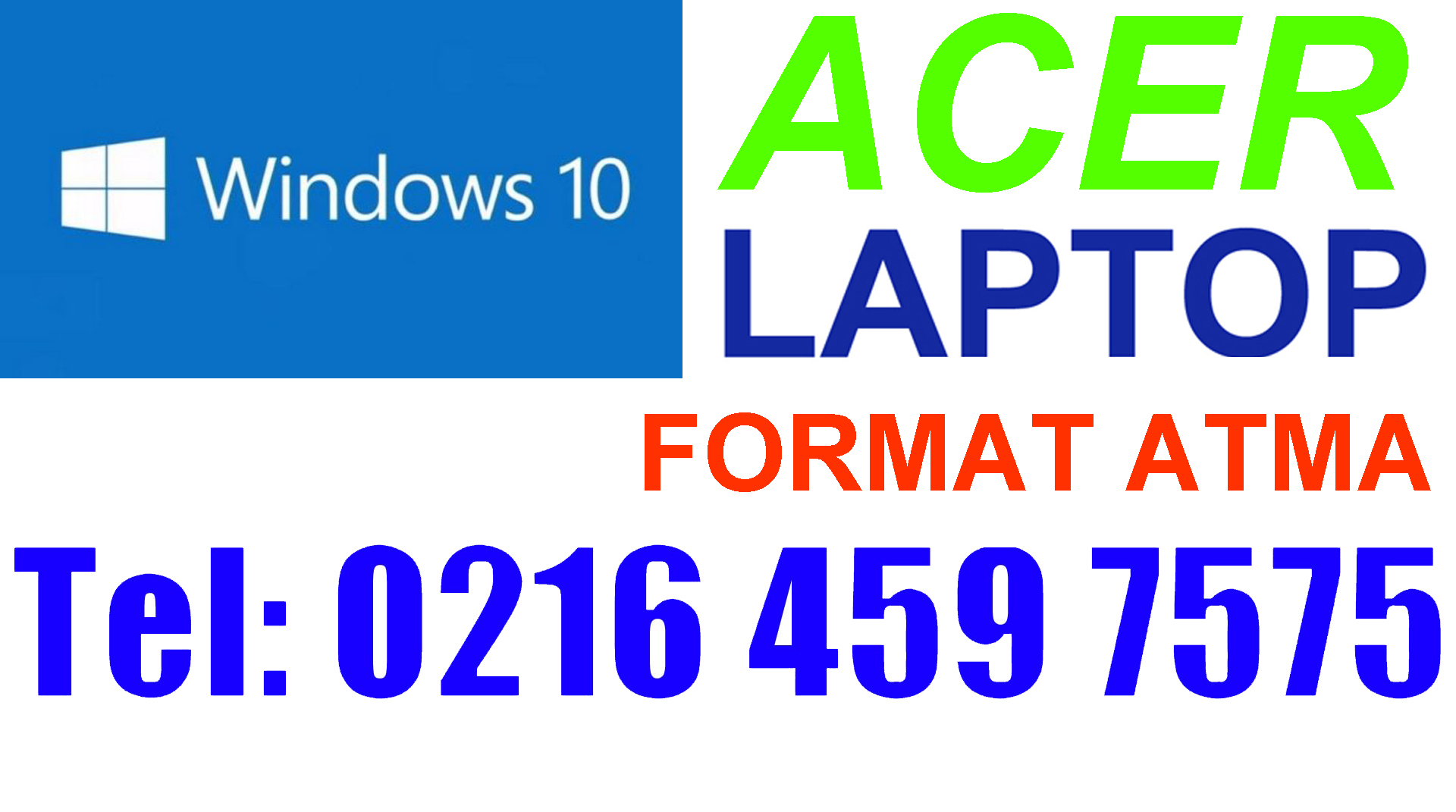 Acer Laptop Format Atma